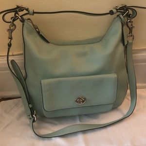 Beautiful mint green Coach bag